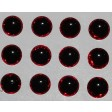 6th Sense Crush 3D Eyes - Red w/ Black Pupils