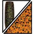 Yamamoto Kreature 4 Inch - 196-pumpkin (orange) w lg black & sm