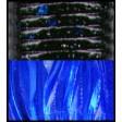 Yamamoto Kreature 4 Inch - 523-black body clear blue tail