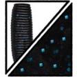 Yamamoto Baby Craw 3-3/4 Inch - 021-black w lg blue