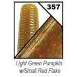 Yamamoto Senko 4 inch - 357-light green pumpkin w/ red