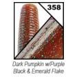 Yamamoto Senko 4 inch - 358-dark pumpkin w purple black emerald