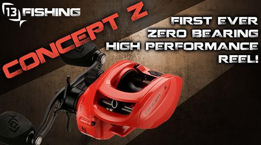 13 Fishing Concept Z High Performance, Zero Bearing Reel