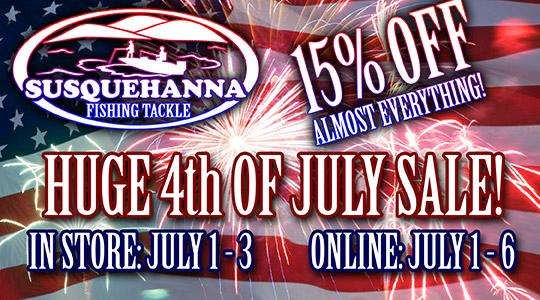 SFTtackle.com 4th of July sale