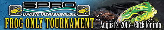 sfttackle spro frog only bass tournament