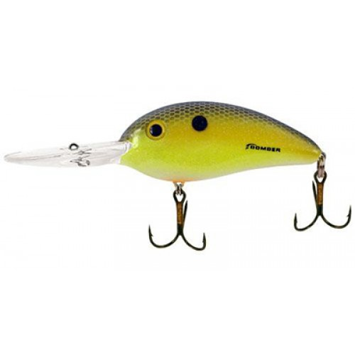 Bomber BD8F Fat Free Shad Chartreuse Blue Sparkle