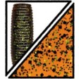 Yamamoto Kut Tail Worm 5 inch - 196-pumpkin (orange) w lg black & sm
