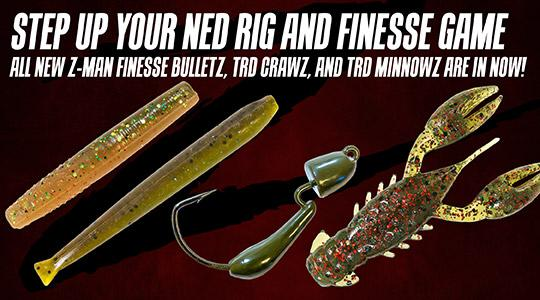New Z-Man Finesse Bulletz, TRD Crawz, and TRD Minnowz are in!